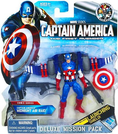 The First Avenger Deluxe Mission Pack Comic Series Captain America Midnight Air Raid Action Figure