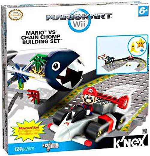 K'NEX Super Mario Mario Kart Wii Mario vs Chain Chomp Set #38469