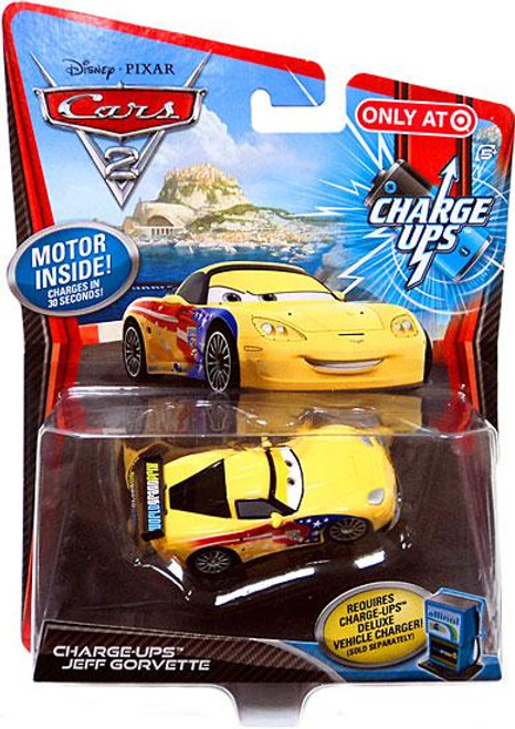 Disney Cars Cars 2 Charge Ups Jeff Gorvette Exclusive Diecast Car