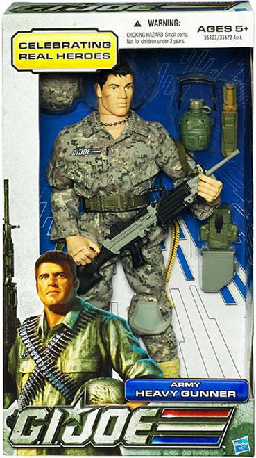 GI Joe Celebrating Real Heroes Army Heavy Gunner 12 Inch Action Figure