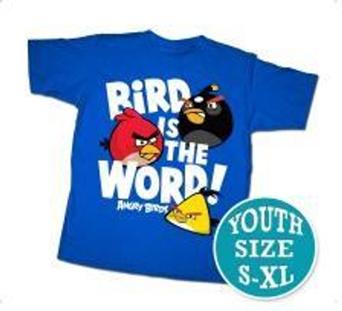 Angry Birds Bird Word T-Shirt [Youth]