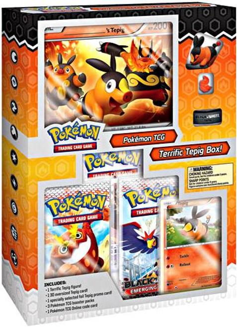 Pokemon Black & White Terrific Tepig Starter Figure Box [Sealed]