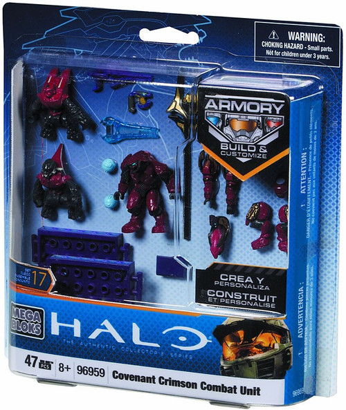 Mega Bloks Halo The Authentic Collector's Series Crimson Covenant Combat Unit Set #96959
