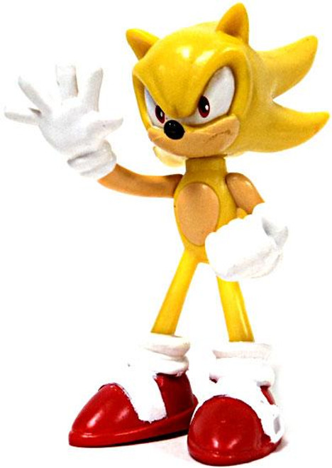 Sonic The Hedgehog Gacha Buildable Figures Super Sonic 2.5-Inch Mini Figure