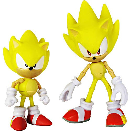 Sonic The Hedgehog Sonic Through Time Super Sonic Classic & Super Sonic Modern Exclusive Action Figure 2-Pack