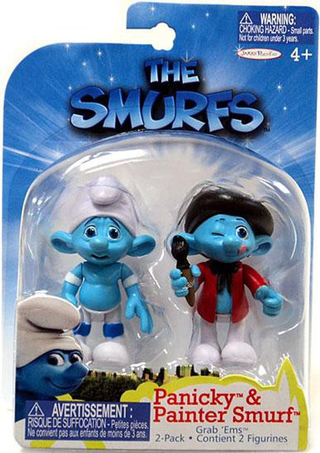 The Smurfs Movie Grab 'Ems Panicky & Painter Smurf Mini Figure 2-Pack