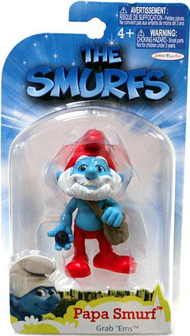 The Smurfs Movie Grab 'Ems Papa Smurf Mini Figure [With Satchel]