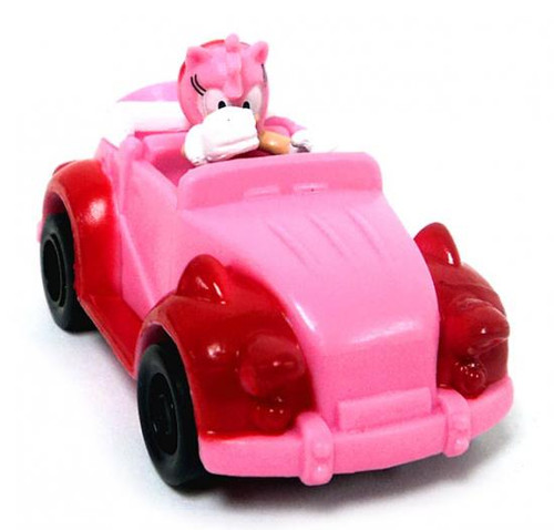 Sonic The Hedgehog Gacha Pullback Racers Amy Mini Figure