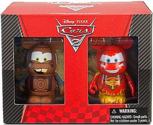 Disney Cars Cars 2 Plush Vinylmation Lightning McQueen & Tow Mater 2-Pack Exclusive Vinyl Figures