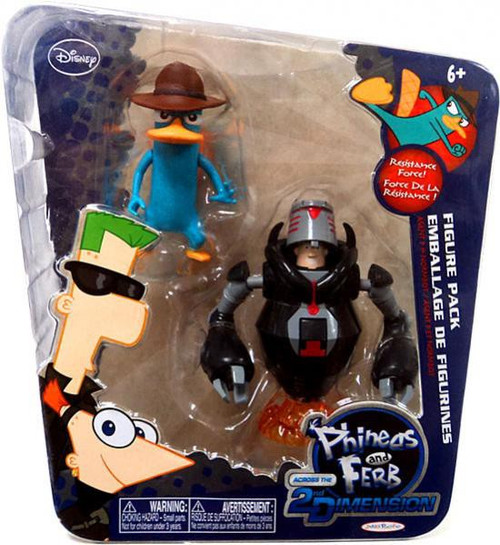 Disney Phineas and Ferb Across the 2nd Dimension Agent P & Normbot Exclusive Action Figure 2-Pack