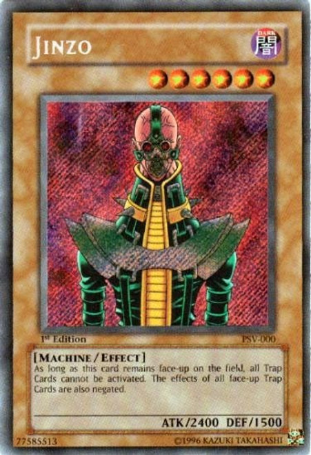 YuGiOh Pharaoh's Servant Secret Rare Jinzo PSV-000