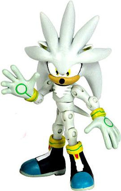 Sonic The Hedgehog 20th Anniversary Silver Action Figure [2006 Loose]