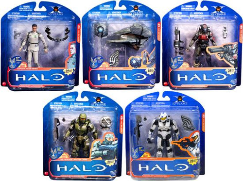 McFarlane Toys Halo 3: ODST 10th Anniversary Series 2 Set of 5 Action Figures