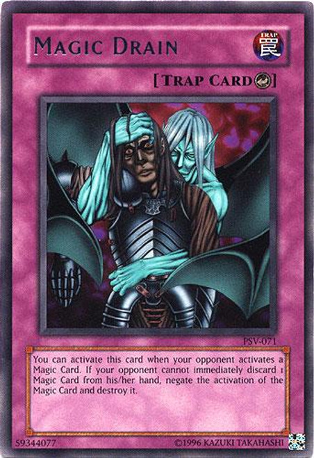 YuGiOh Pharaoh's Servant Rare Magic Drain PSV-071