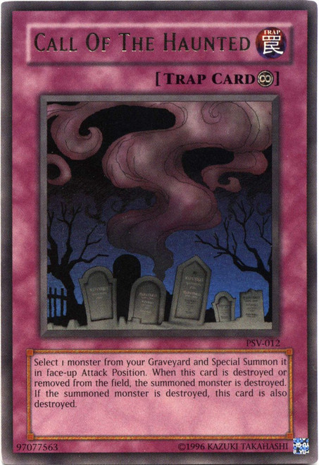 YuGiOh Pharaoh's Servant Ultra Rare Call of the Haunted PSV-012