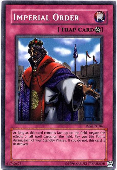YuGiOh Pharaoh's Servant Secret Rare Imperial Order PSV-104