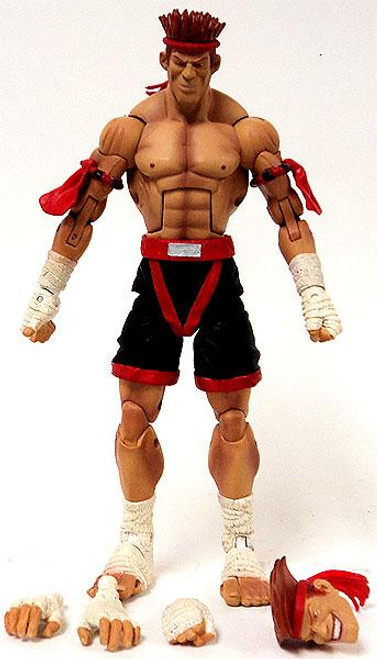 Street Fighter Series 3 Adon Action Figure [Red/Black, Loose]