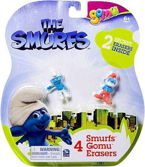 The Smurfs Movie Gomu Eraser 4-Pack