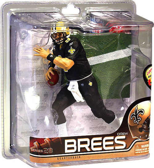 McFarlane Toys NFL New Orleans Saints Sports Picks Series 28 Drew Brees Action Figure [All Black Uniform]