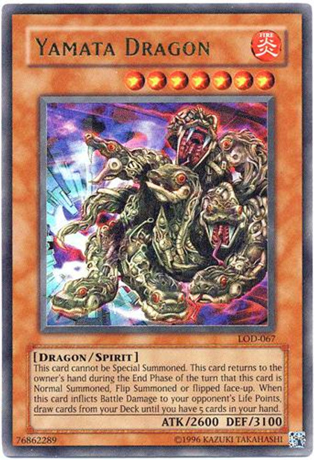 YuGiOh Legacy of Darkness Ultra Rare Yamata Dragon LOD-067