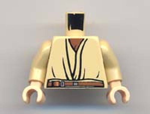 LEGO Minifigure Parts Tan Layered Shirt with Open Chest Loose Torso [Loose]