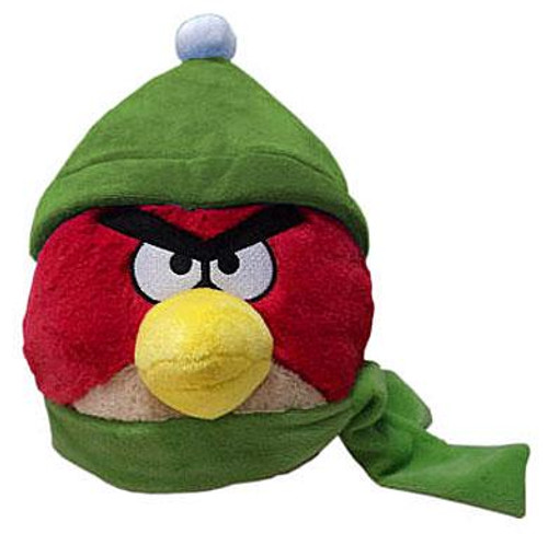 Angry Birds Winter Red 6-Inch Plush [Green Hat & Scarf]