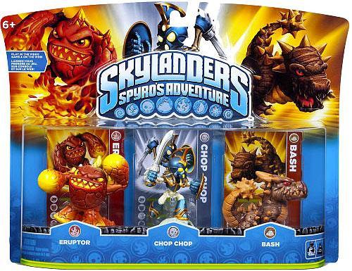 Skylanders Spyro's Adventure Eruptor, Chop Chop & Bash Figure 3-Pack