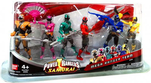 Power Rangers Samurai Mega Ranger Team Action Figure Set
