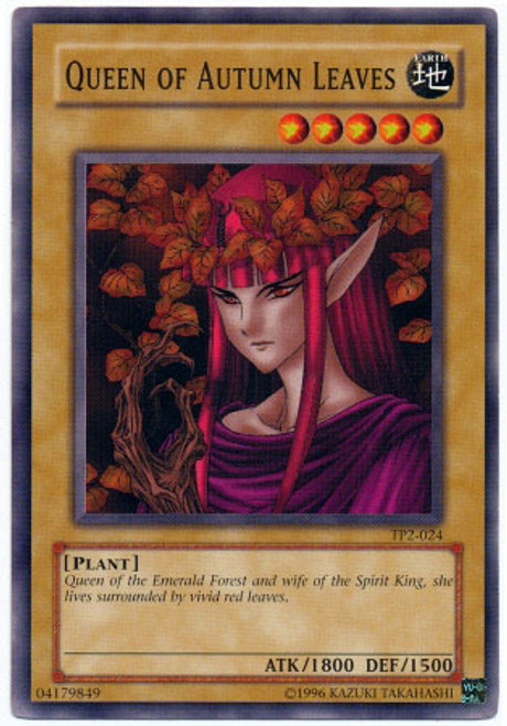 YuGiOh Tournament Pack 2 Common Queen of Autumn Leaves TP2-024