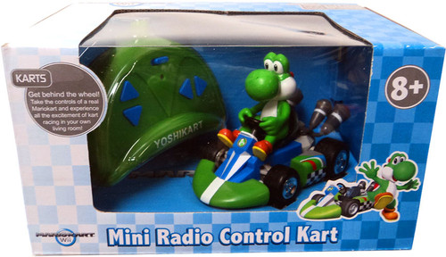 Super Mario Mario Kart Wii Mini Radio Control Kart Yoshi R/C Vehicle