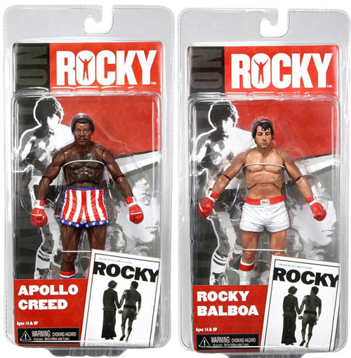NECA Series 1 Set of 2 Rocky Action Figures [Pre Fight]