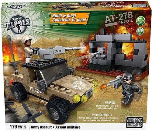Mega Bloks True Heroes Build & Play AT-278 Patrol Army Assault Set
