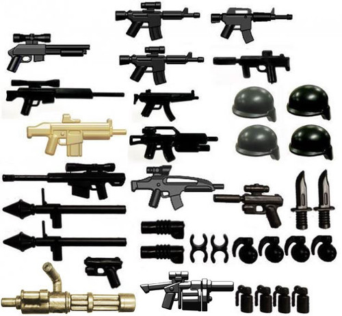 BrickArms Modern Assault 2.5-Inch Weapons Pack