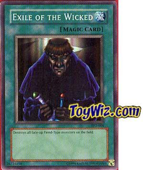 YuGiOh Tournament Pack 2 Super Rare Exile of the Wicked TP2-004