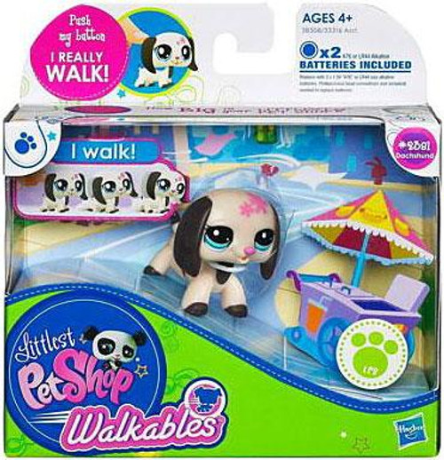 Littlest Pet Shop Walkables Dachshund Figure #2381