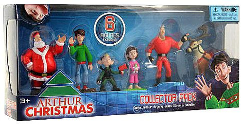 Arthur Christmas Collector Pack Mini Figure 6-Pack