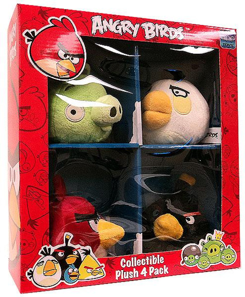Angry Birds Collectible 4-Pack 4-Inch Plush [Set #1]