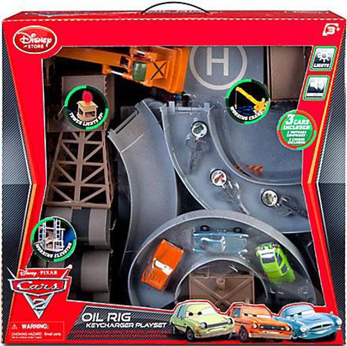 Disney Cars Cars 2 Key Chargers Oil Rig Key Charger Exclusive Keychargers Playset #19C6