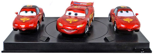 Disney Cars Cars 2 Multi-Packs Lightning McQueen with Mia & Tia Exclusive Diecast Car Set