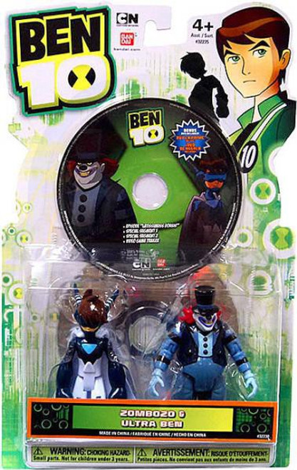Ben 10 Ultimate Alien DVD Series Zombozo & Ultra Ben Action Figure 2-Pack
