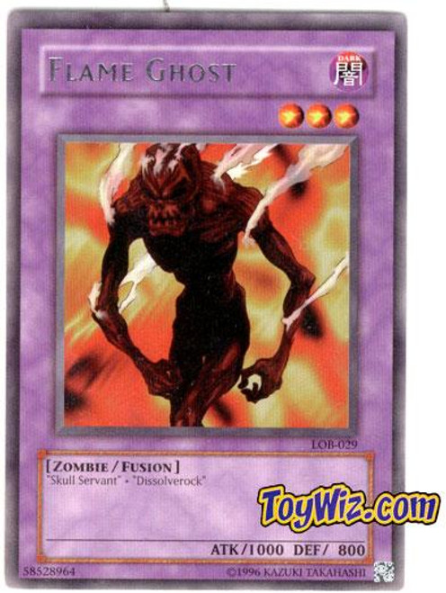 YuGiOh Legend of Blue Eyes White Dragon Rare Flame Ghost LOB-029