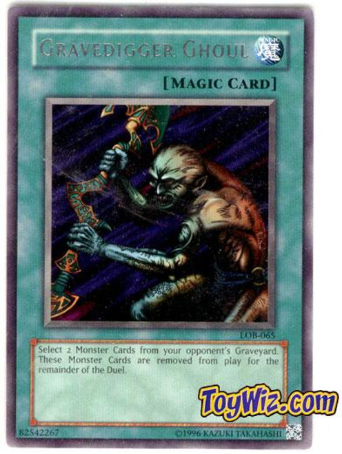 YuGiOh Legend of Blue Eyes White Dragon Rare Gravedigger Ghoul LOB-065