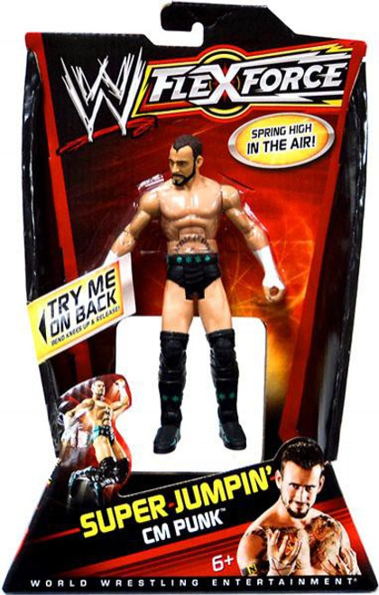 WWE Wrestling FlexForce Series 3 Super Jumpin' CM Punk Action Figure