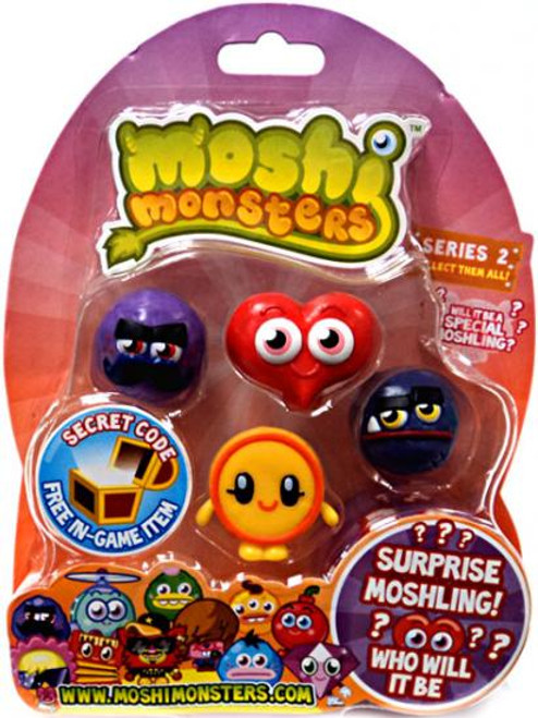 Moshi Monsters Moshlings Series 2 Mini Figure 5-Pack
