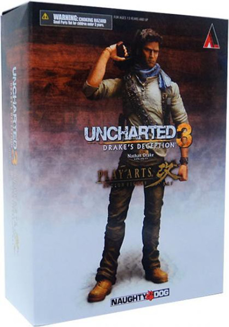 Uncharted 3 Play Arts Kai Series 1 Nathan Drake Action Figure