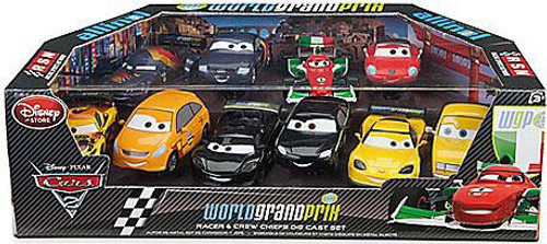 Disney Cars Cars 2 1:43 Multi-Packs World Grand Prix Racer & Crew Chiefs Exclusive Diecast Car Set [Set #2]