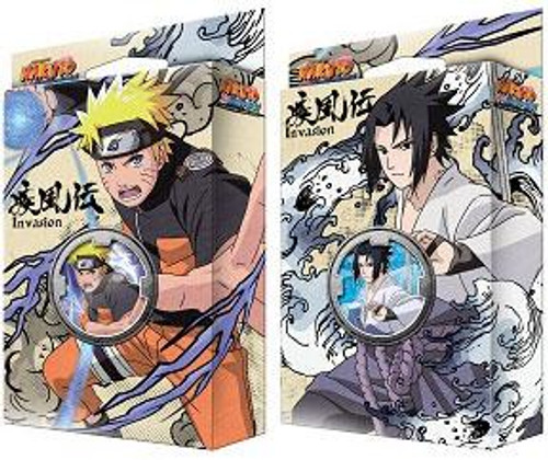 Naruto Shippuden Card Game Set of Both Invasion Theme Decks