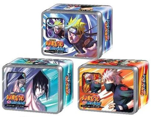 Naruto Shippuden Card Game Set of 3 Rebirth Collector Tins