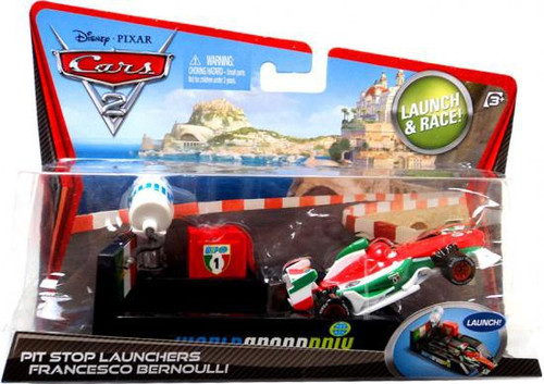 Disney Cars Cars 2 Pit Stop Launchers Francesco Bernoulli Diecast Car [With Launcher]