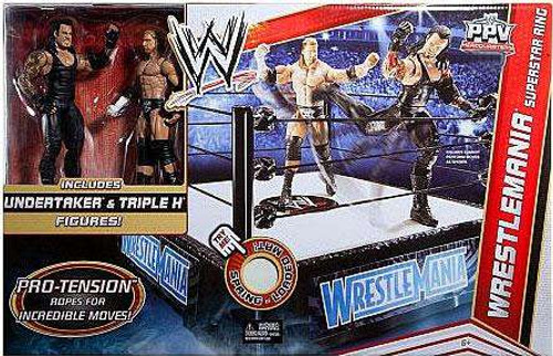 WWE Wrestling Playsets Wrestlemania Superstar Ring Exclusive Action Figure Playset [Undertaker & Triple H]